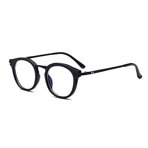 D.King Vintage Round Prescription Eyeglasses Horn Rim Clear Lens Eye Glasses Frame Black