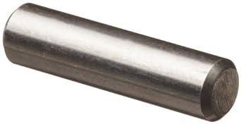"18-8 Stainless Steel Dowel Pin, 1/8"" Diameter, 5/8"" Length (Pack of 100)"