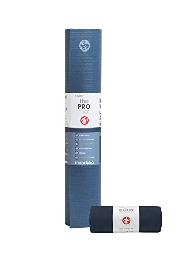 Manduka Pro Yoga Mat & eQua Yoga Towel Set, Odyssey/Midnight by Manduka