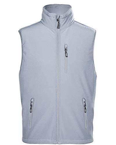 - Outdoor Ventures Men's Milan Casual Lightweight Travel Softshell Vest Outerwear Windproof Full-Zip Fleece Lined