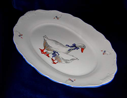 - Geese, Czech porcelain, Bone China Porcelain (Dish Oval 14x10