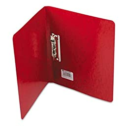 PRESSTEX Grip Punchless Binder With Spring-Action Clamp, 5/8\'\' Capacity, Red, Total 25 EA, Sold as 1 Carton