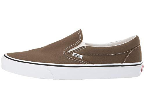 Vans Unisex Classic Slip-On Skate Shoe (10 Women/8.5 Men, Beech/True White)