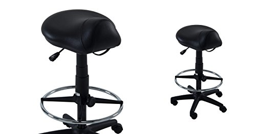Kayline Stylist Saddle Stool Hi-rider * Seating Black Vinyl - Black * # 812v by Kayline