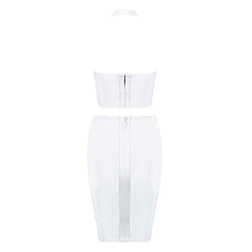 2 Verband Stück Seiten Ansatz Halter Schlitz HLBandage Kunstseide Kleid Weiß 60xdAqTTn