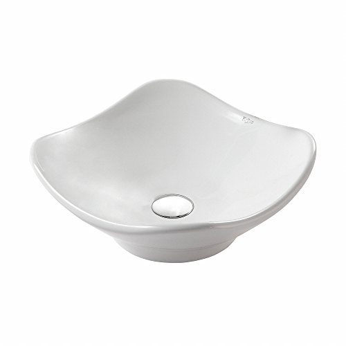 Kraus KCV-135 White Tulip Ceramic Bathroom Sink