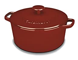 Cuisinart CI650-25CR Chef\'s Classic Enameled Cast Iron 5-Quart Round Covered Casserole, Cardinal Red