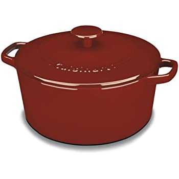 cuisinart ci65025cr chefu0027s classic enameled cast iron 5quart round covered casserole