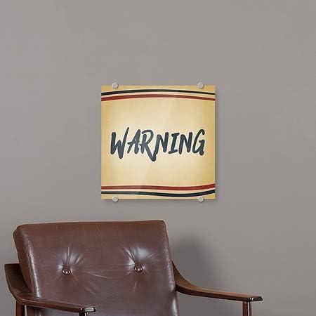 16x16 Warning 5-Pack Nostalgia Stripes Premium Acrylic Sign CGSignLab
