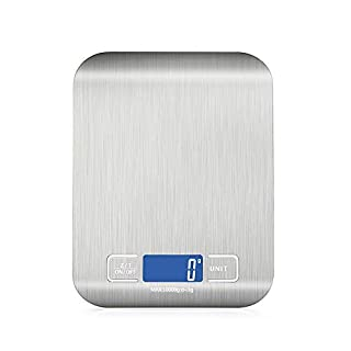 Showvigor 22 lb/ 10kg Digital Food Kitchen Scale, 1g/0.1oz Precise Graduation, Stainless Steel Multifunction Scale Measures for Baking, Cooking and Coffee etc.