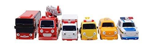 Frank Pat Alice Nuri Toto Cito - The Little Bus Tayo Special Mini Bus Set 6pcs (Tayo The Little Bus Garage)