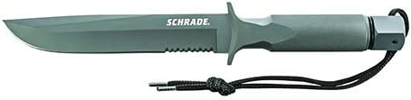 12.7 Inch Schrade SCHF2 Forged Blade and Serrated Handle for Survival