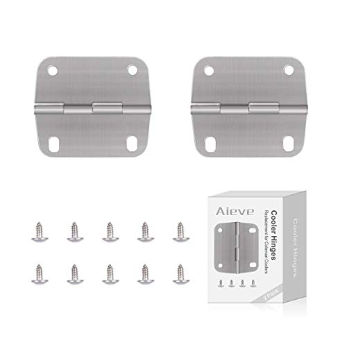 AIEVE Cooler Hinges, for Coleman Cooler Hinges and Screws Set, Cooler Replacement Hinges, Stainless Steel Cooler Hinges Replacement for Coleman Cooler Hinges Cooler Accessories