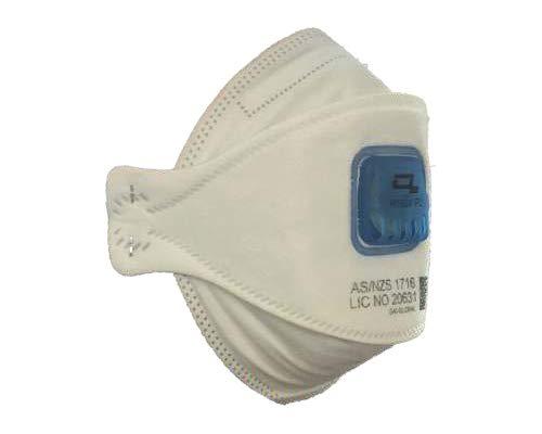 YSF P2 Valved Flat Fold Respirator, 10 Masks