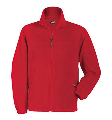 Fleece Full In Uomo Pesante Giacca zip Red Sportiva T6zwq1xnB