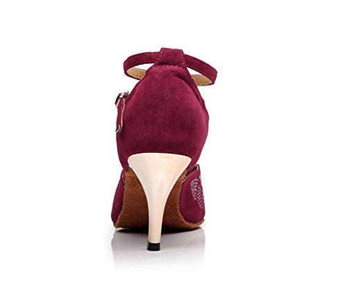Our35 Salsa Cristaux Sandales Femme Sparking De Tango 5 Latin Satin Rouges8 uk3 Jshoe Chaussures Jazz Eu34 Hauts Samba Talons Chacha Modern 5cm x1wYEqOd