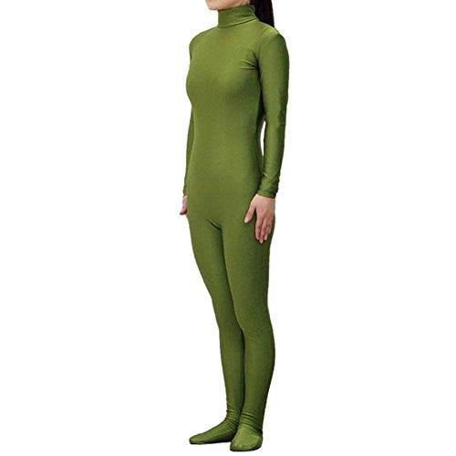 [Muka Adult Lycra Zentai Unitard Bodysuit Halloween Catsuit Dancewear - Armygreen,XL] (80s Fancy Dress Ideas Men)