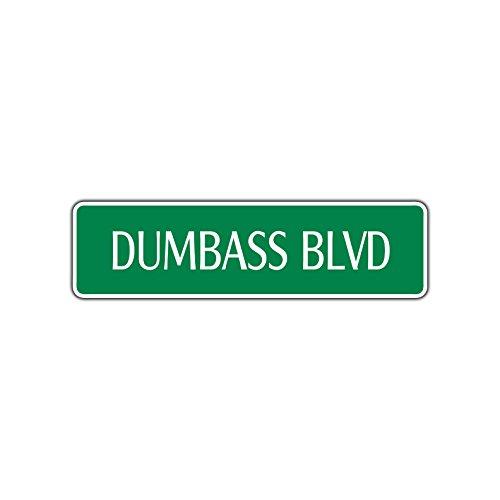 Dumb Boy Gift Friend Blvd Funny Street Sign Goofy Stupid Moron Jerk - Blvd Kids