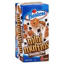 - Hostess Mini Muffins - Chocolate Chip 8 Oz. [Pack of 3]