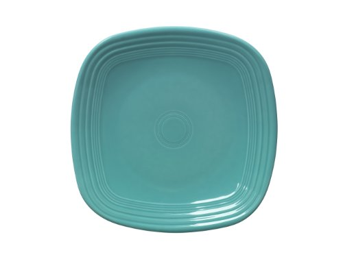 - Fiesta Square Dinner Plate, 10-3/4-Inch, Turquoise