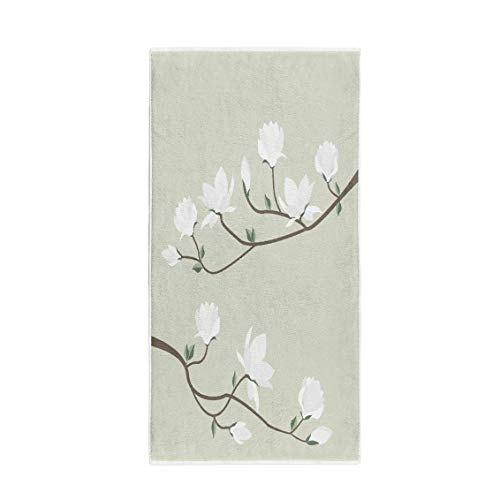 Pinbeam Bath Towel Blossom White Flowers Spring Magnolia Branch Floral Beautiful Towel - Magnolia Bath Towel
