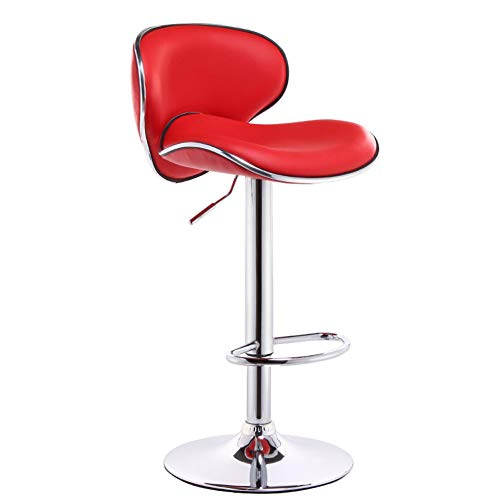 - bar stool, Counter Height Adjustable bar Chair, Back PU Artificial Leather Kitchen Counter Stool Dining Chair, 1 Pack