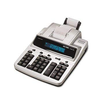 Victor 1240-3a Antimicrobial Printing Calculator, Black/Red Print, 4.5 Lines/Sec by Victor