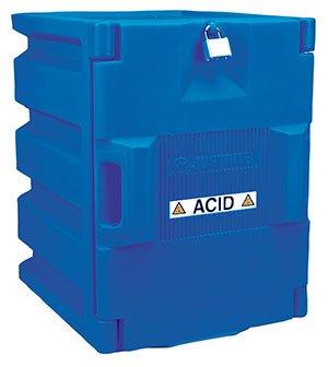 Blue Polyethylene Countertop Storage Cabinet for Corrosives - R3-24040