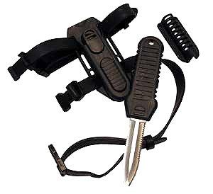 Trident Shark Stainless Steel Scuba Diving Backup Knife w/Sheath & Hose Clip, Scuba Knives, Scuba Knife, Authorized Dealer Full Warranty Diver Stainless Steel Knife