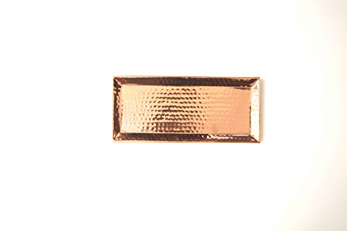 (Rosy Rings Hammered Rose Gold Tray)