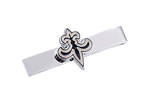 New Orleans Saints Cufflinks - Promotioneer Mens Rugby The Team Logo Symbol Series Tie Bar Tie Clip with Gift Box