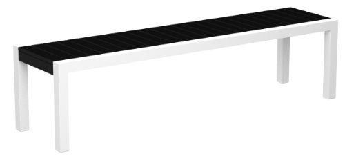 POLYWOOD 3800-13BL MOD Bench, Satin White/Black (Bench Satin)