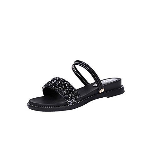 Koreanische Damen Sandalen,Damenschuhe,Flat Bottom Heel Schuhe C