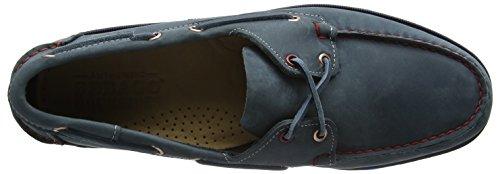 Sebago Triton Three Eye, Chaussures bateau homme, Bleu (Bleu-TR-A-4-19), 45
