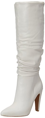 Steve Madden Women's Carrie Fashion Boot, White Leather, 7.5 M US