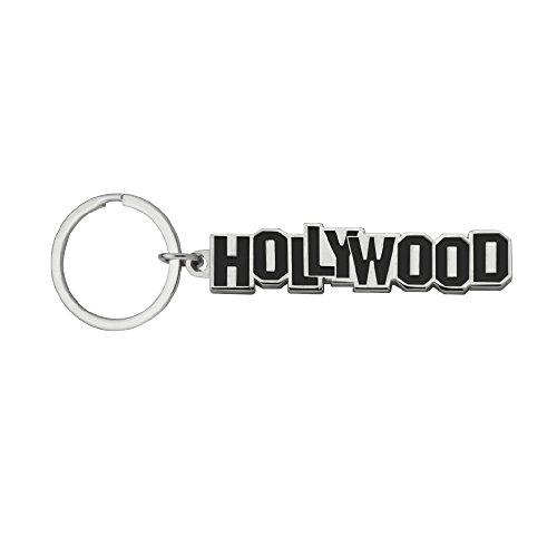 Key Chain Embossed Hollywood Souvenir Metal Keychain -
