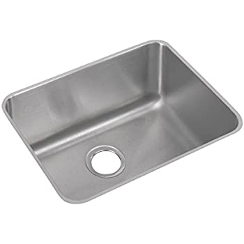 Elkay Lustertone ELUH211510 Single Bowl Undermount Stainless Steel Kitchen  Sink