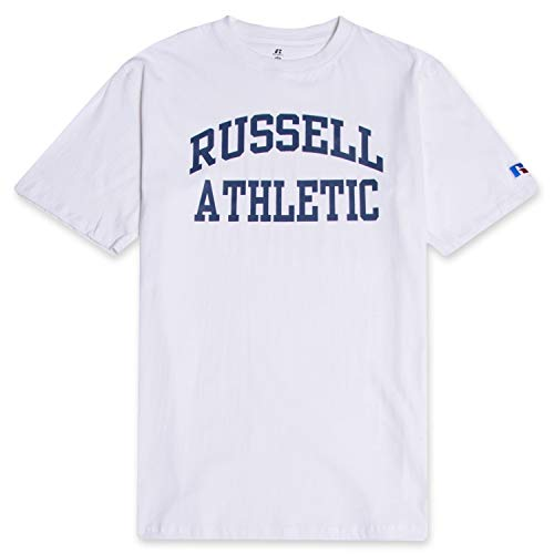 Russell Mens Big and Tall Cotton Jersey Tee Shirt Classic Logo White 2X