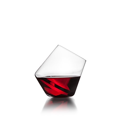 Sempli Cupa-Vino Clear Aerating Wine Glasses, Set of 2 in Gift Box