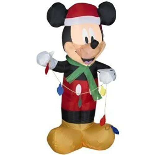disney 35 ft gemmy christmas airblown inflatable led mickey mouse holding set of lights - Disney Christmas Inflatables