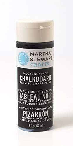 Martha Stewart Crafts Martha Stewart Multi-Surface Chalkboard Black, 6 oz Paint,