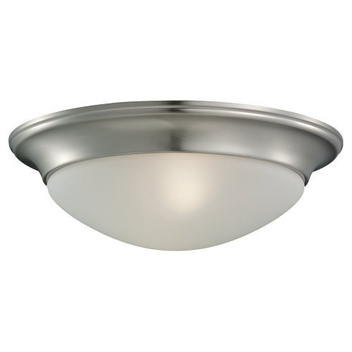 (Sea Gull Lighting 79434BLE-962 Flush Mount with Satin EtchedGlass Shades, Brushed Nickel Finish by Sea Gull Lighting)