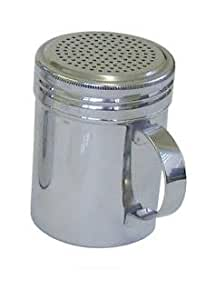 U-Group - Espolvoreador con asa para azúcar glas, sal, harina o chocolate (acero inoxidable, 140 g), color plateado