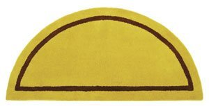 Minuteman International Mustard Contemporary Wool Hearth Rug (Half (Minuteman Contemporary Hearth Rug)