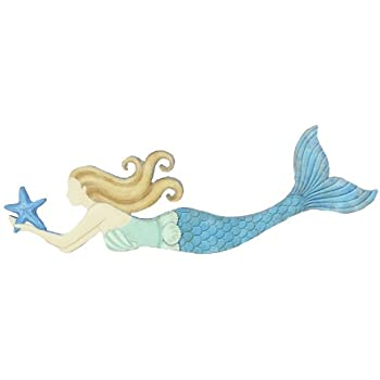 Merveilleux Youngu0027s Wood Mermaid Wall Art, 19.25 Inch