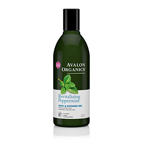 Avalon Organics Revitalizing Peppermint Bath & Shower Gel, 12 oz.