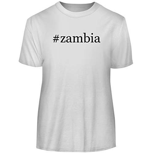 One Legging it Around #Zambia - Hashtag Men's Funny Soft Adult Tee T-Shirt, White, XX-Large