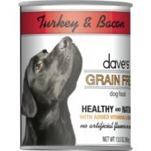 Dave's Natural Grain Free Turkey and Bacon (Pack 12x13oz), My Pet Supplies