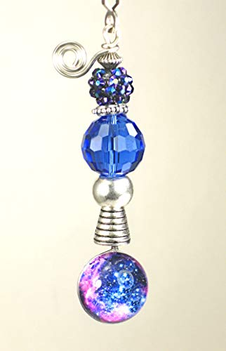 - Stars in The Galaxy Interstellar Cobalt Blue Glass and Faux Rhinestone Ceiling Fan Pull