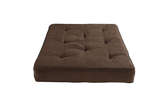 DHP 8-Inch Independently-Encased Coil Premium Futon Mattress, Full Size, Chocolate Brown